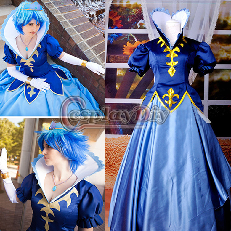 Free Shipping Custom-made Anime Cosplay Costume Fairy Tail Juvia Lockser Cosplay Costume