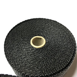 """Image 5 - 2"""" x50  Black Colour Exhaust Wrap Exhaust Muffler Pipe Header Heat Resistant Free Shipping 6 Cable Ties"""