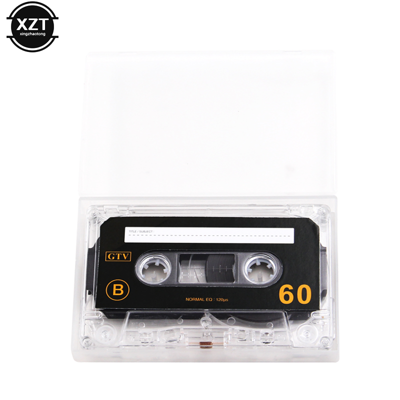 1pcs Standard Cassette Blank Tape Player Empty 60 Minutes Magnetic Audio Tape Recording For Speech Music Recording high qulity 1