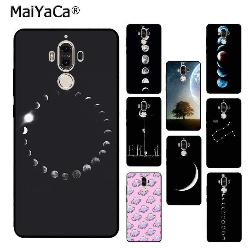 Phone Bags & Cases Half-wrapped Case Honest Maiyaca Fashion Space Eclipse Of The Moon Diy Cell Phone Protective Case For Huawei Mate 9 P9 P10plus Mate9 10 P20 Case Cover Chills And Pains