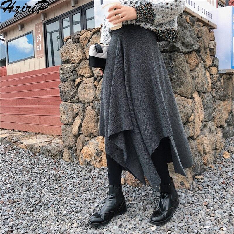 HziriP New Women Sexy White Long Lace Skirt 2019 Autumn Winter Fashion Elegant High Waist Pleated Mesh Skirts Female Saias