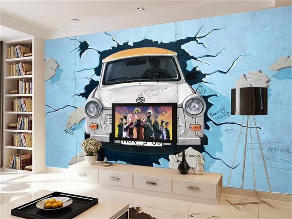 wallpaper broken car wallpaper murals photo wallpaper bedroom kids