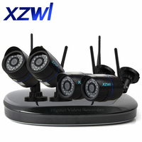 4CH 1080P NVR HD Wireless Network IP CCTV Security Camera System 4pcs Wifi IP Cameras Night