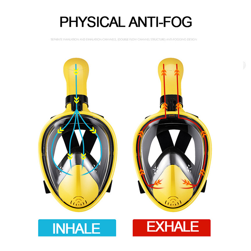 2020 New Scuba Diving Mask Full Face Anti Fog Underwater Snorkel Mask Set Swimming Mask For Gopro Camera(Myopia Lens Option)