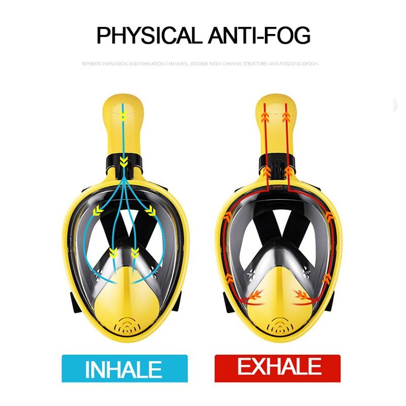 2020 New Scuba Diving Mask Full Face Anti Fog Underwater Snorkel Mask Set Swimming Mask For Gopro Camera(Myopia Lens Option)
