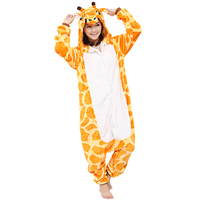 Animal Costume Giraffe Onesie Pajama Adult Halloween Carnival Party Clothing