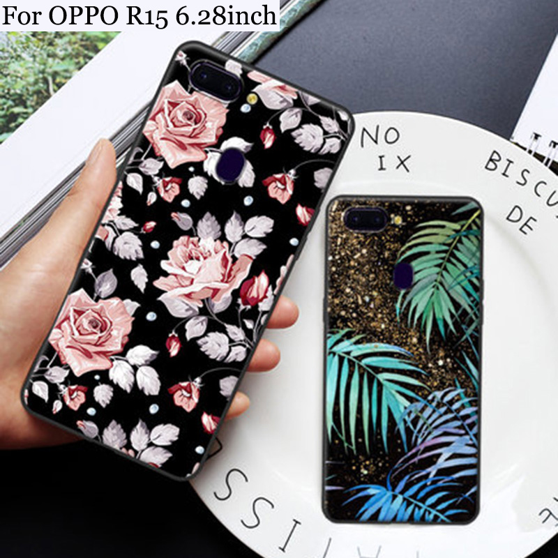 6.28inch For OPPO R15 case Cute Cartoon painted Soft shell PACM00 case For OPPO R 15 back cover OPPOR15 cases