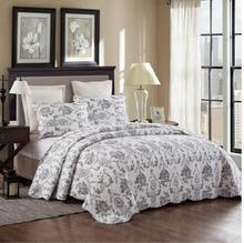 3Pcs 100% cotton quilt bedspread throw blanket  floral print luxury bedclothesduvet cover set pillowcases 28
