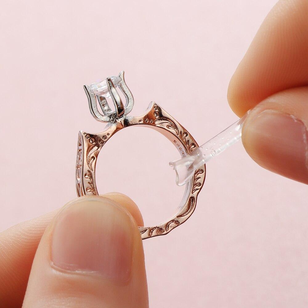 10 Pcs Ring Größe Transparent Teller Set Kunststoff Frühling Ring Teller Pad Minderer Schmuck Größenänderung Werkzeuge Lose Ring Zubehör