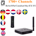Escandinavo iptv caixa de tv minix neo u1 android 5.1 + a2 lite com real H.265 4 K Árabe Persa Turco Latina Europa IPTV IPTV Box