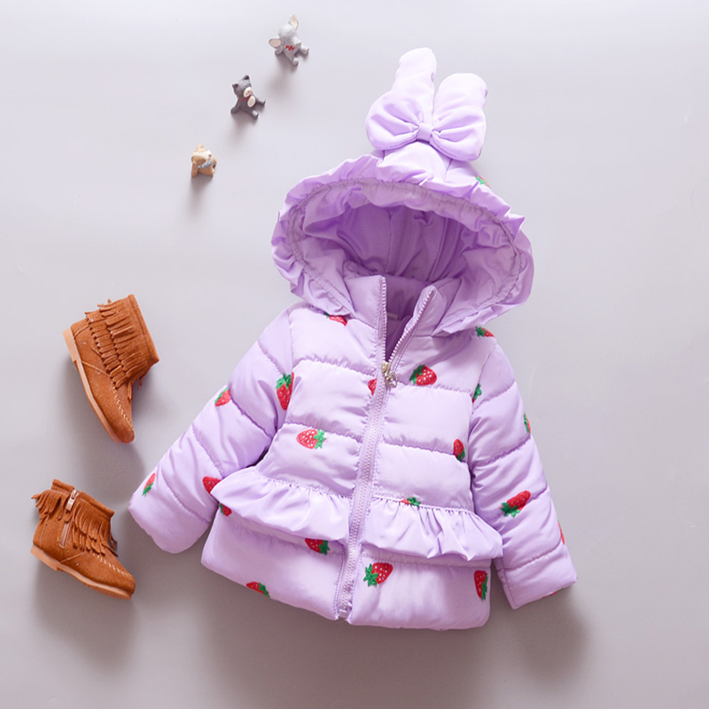 Cute Baby Girls Winter Coats 2016 Warm Jackets Long -7249
