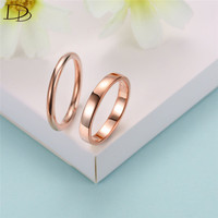 DODO Real 925 Sterling Silver Rings White Gold Rose Gold Color Rose Daisy Couple Rings For