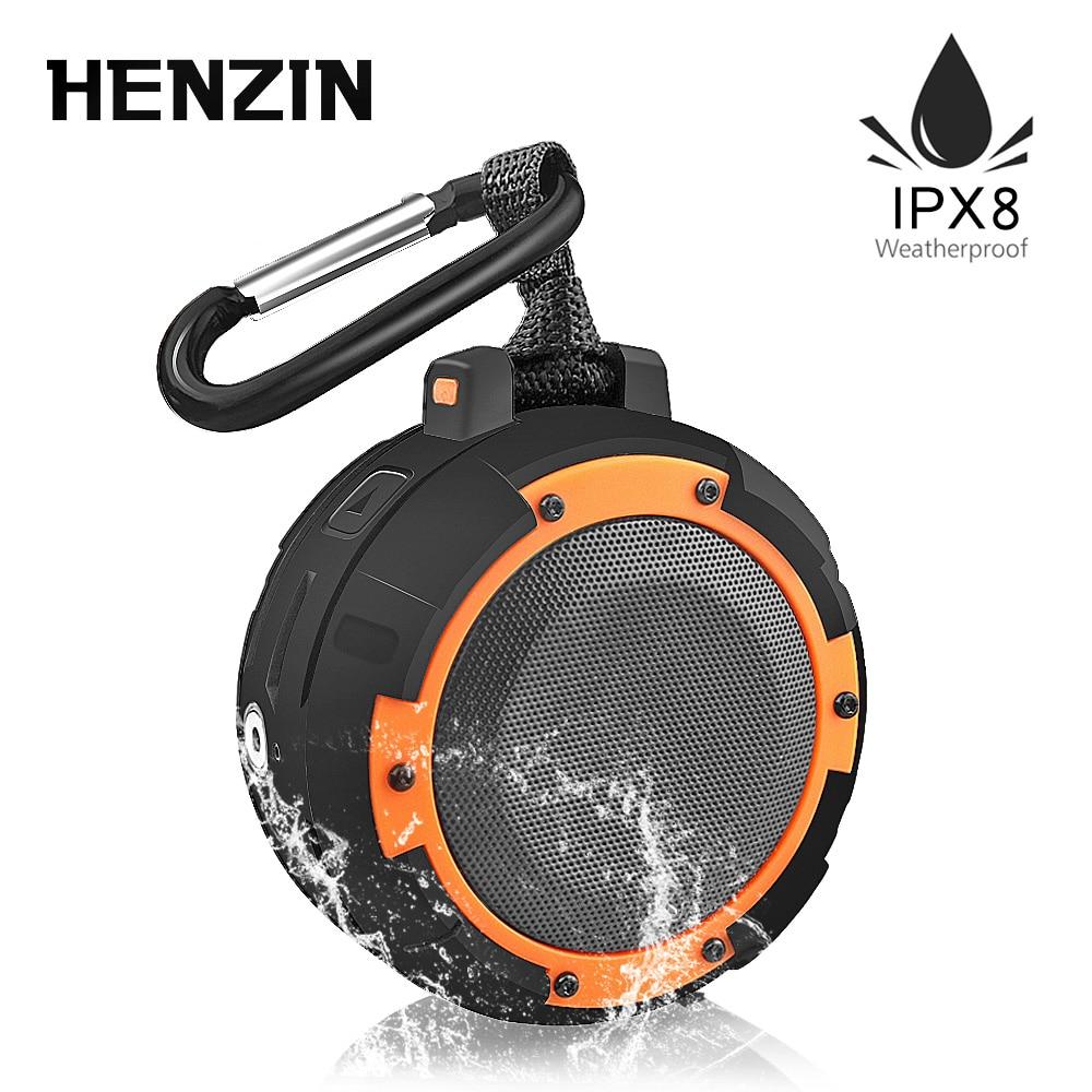 Outdoor Portable Bluetooth Speaker Waterproof IPX8 5W1500mAh LED HiFI Wireless Speaker w Bracket Suction Cup for Outdoor Sports