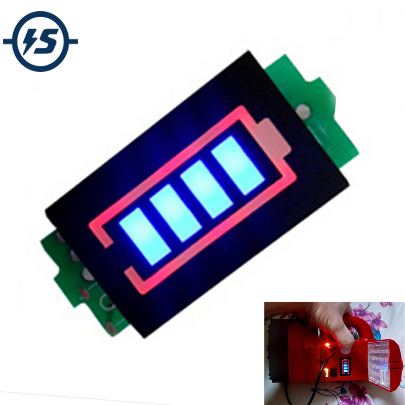 1S Single 3.7V Lithium Battery Capacity Indicator Module 4.2V Blue Display Electric Vehicle Battery Power Tester Li-po Li-ion