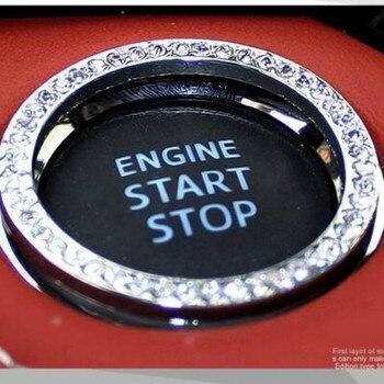 Coche anillo de botón de arranque 2019 Accesorios caliente para BMW F13 G11 G12 F01 F02 F87 F80 F83 F82 F90 F10M F13M F12M M8 Z4 E89