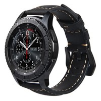 V MORO 22m Genuine Leather Watch Band For Gear S3 Band Replacement Watch Bracelet For Gear