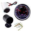 Hight qualidade 2 polegada 52mm Carros Autos Veículo white Smoke LED Turbo Boost Medidor de Vácuo Medidor de instrumentos do carro