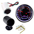 Hight quality 2 inch 52mm Cars Autos Vehicle Smoke white LED Turbo Boost Gauge Vacuum Meter car instruments