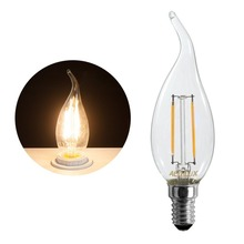 HRSOD 4 X E14 2W  2 COB 3000K 200LM Warm White Light Led Candle Bulb,Non-dimmable Spot Bulb Ampoule LED (AC220V)