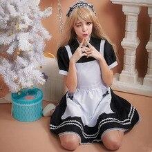 Lolita maid vestido de japón ropa de dama negro maid cosplay disfraces de halloween para mujeres cosplay anime ropa