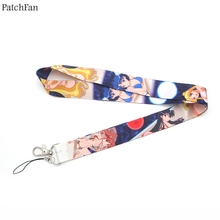 Patchfan sailor moon cartoon movie neck lanyards for keys glasses card holder bead keychain phones camera webbing A0840