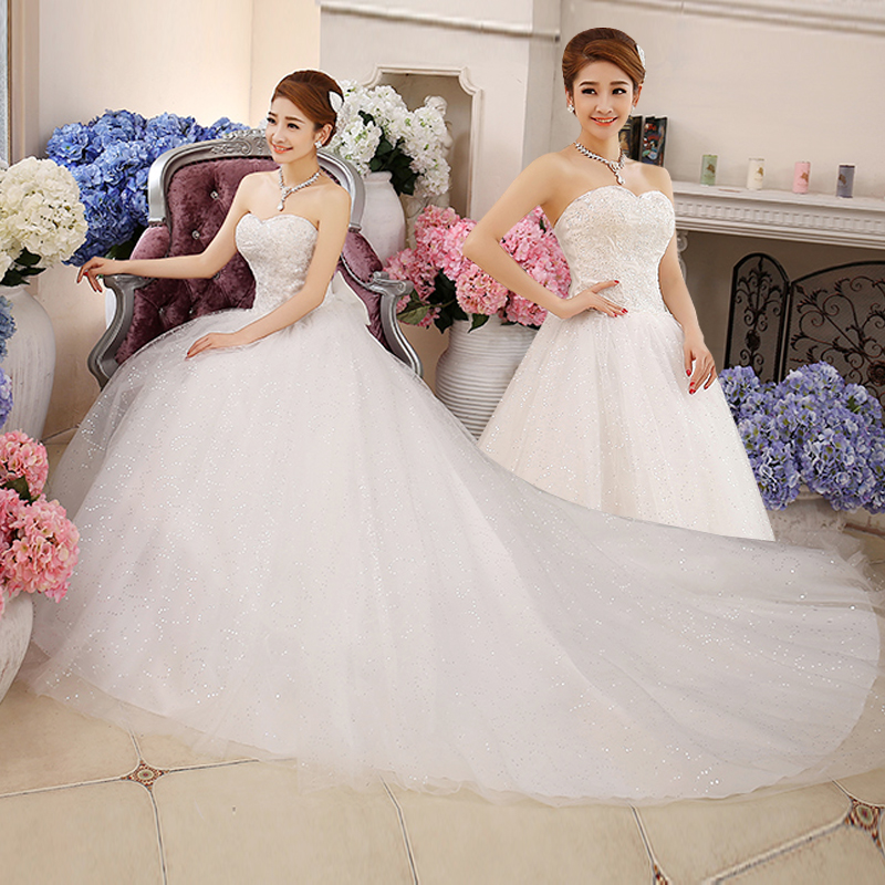 2017 new stock plus size women pregnant bridal gown wedding dress ball gown long tail train sweetheart sexy white lace xuanxinn2