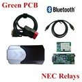Verde Nec Relés PCB Nueva vci TCS CDP cdp con Bluetooth mvd Pro Plus Coches Camiones OBD2 Auto Scan herramientas 2015. R1/2014. R2 software
