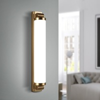 YZKJ Modern Simplicity Sconce Bedroom Foyer TV Background Wall Light Iron Art BR And CF LED Wall Lamp Frosted Glass Loft Decor