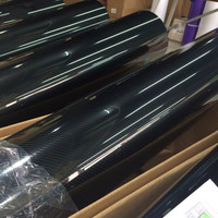 Car Styling 50cmx152cm Super Quality High Glossy 5D Carbon Fiber Car Wrapping Vinyl Film Motorcycle Car