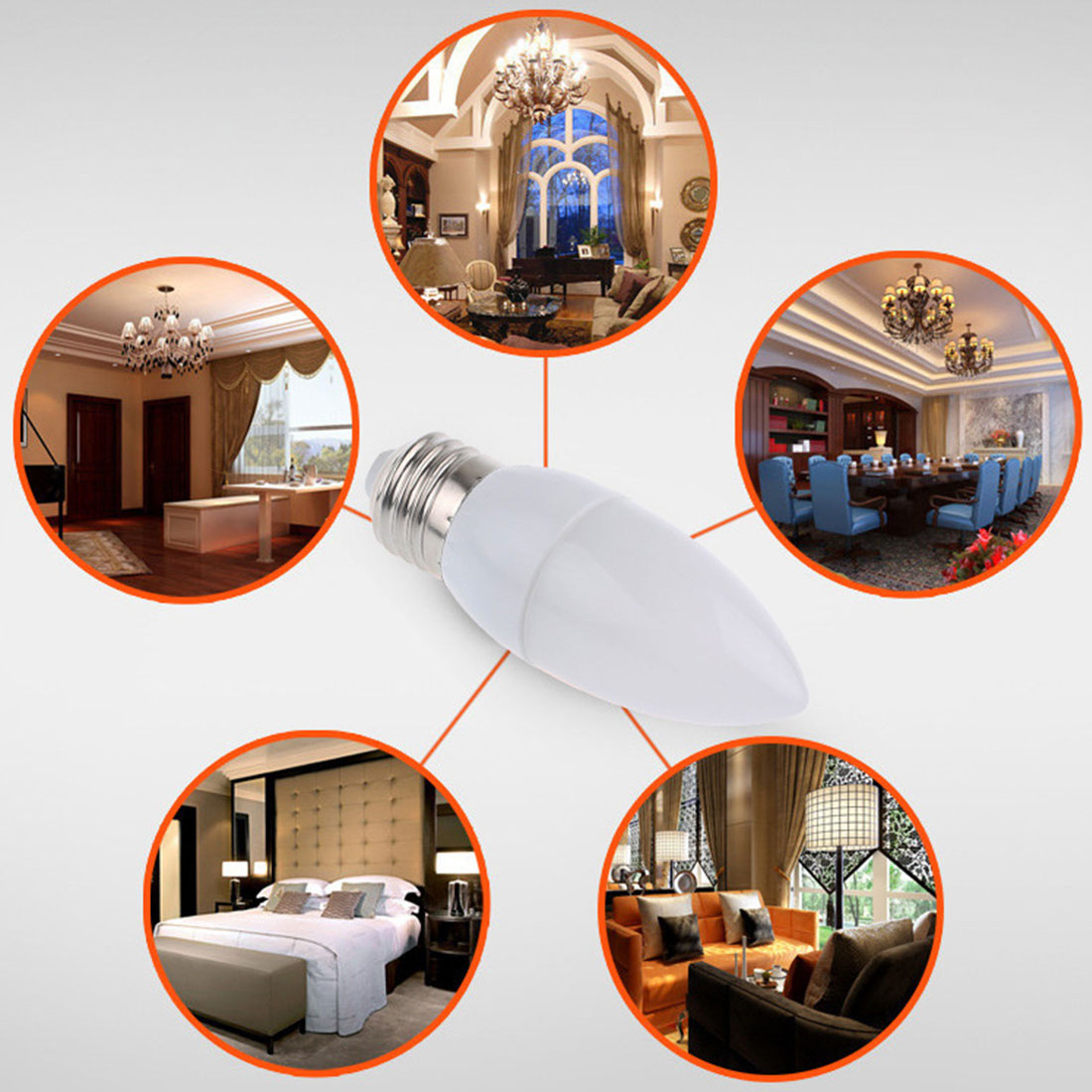 Home Decoration Bombilla Led for E14 Led Candle Bulb