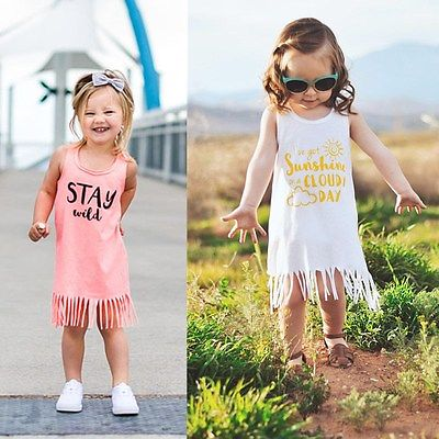 6aa1e3ce797c 2017 Adorable Casual Simple Baby Toddler Kid s Girls Summer Clothes ...