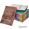 Мягкий Квадратный блокнот  креативный простой дневник с радужными краями