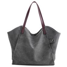 цены Fashion Simple Large Capacity Ladies Canvas Bag Female Shoulder New Trend Fashion Wild Practical Ladies Casual Canvas Handbag