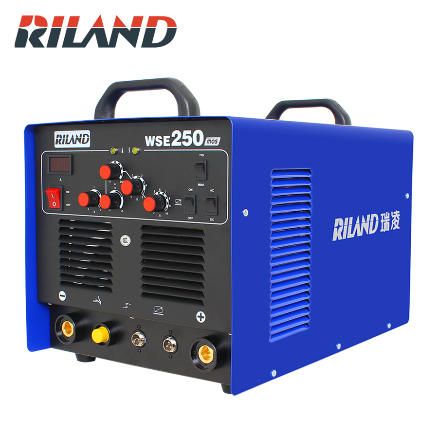 RILAND WSE250 TIG AC/DC Aluminum Tig/Stick Welder Square Wave Inverter Welding Equipment with Accessories Tools image