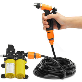 portable electric car high pressure washer pump and car cigarette charger