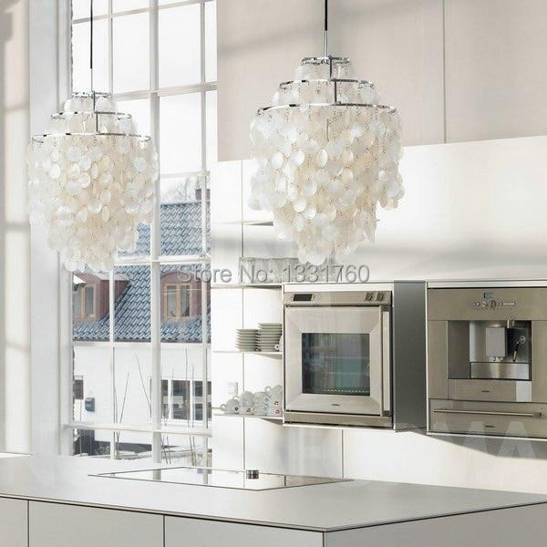 Dia 38cm Verner Panton Fun Shell Lamps 3 Circle Diy Pendant Lamp Seashell Chandelier Lights Modern In From
