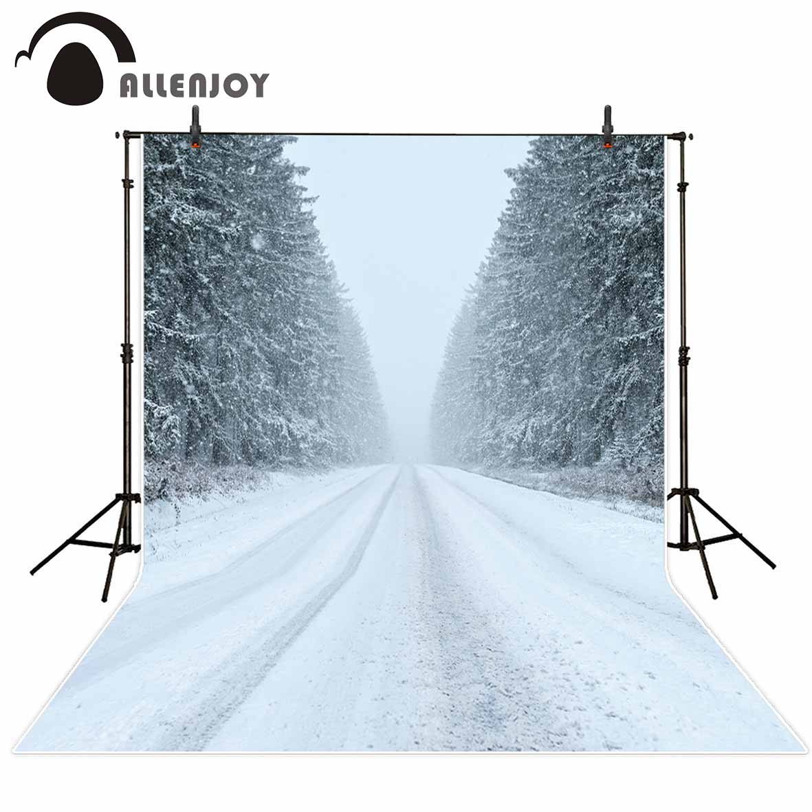 Allenjoy newborn photography background Blizzard Snow Cedar Snowflakes Road Marks photo studio photobooth high quality HD files