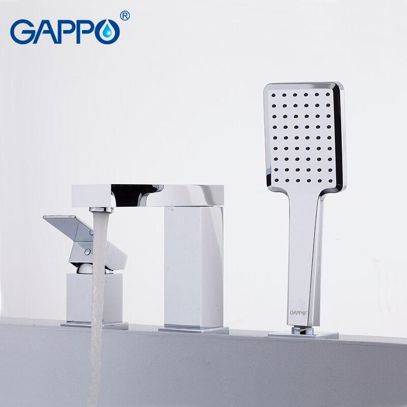 GAPPO bathtub faucets waterfall faucet bath tub mixer robinet baignoire bathtub faucet deck mount tub faucet deck mount widespread waterfall bathtub faucet chrome bath tub mixer taps five holes bath shower faucets