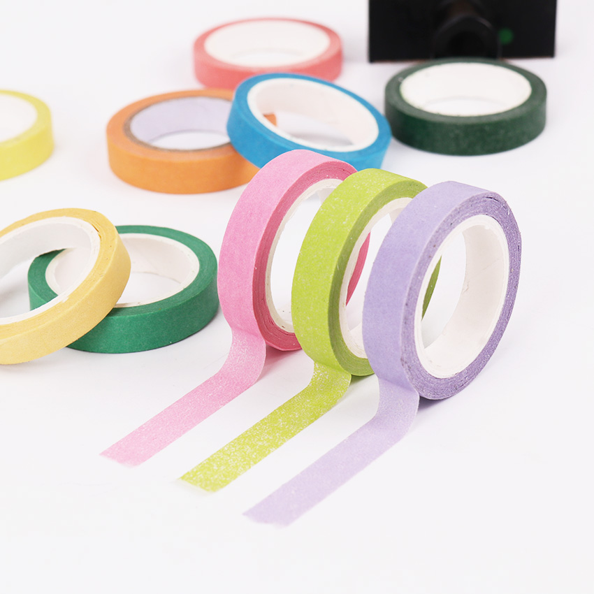 10 PCS/lot Rainbow Roll DIY Washi Sticky Paper Tape Masking Tape Self Adhesive Tape Scrapbooking Decorative Scrapbook Tape Gift