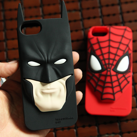 10 pcs Cool Batman Bat Man SuperMan Super Man <font><b>Spiderman</b></font> Spider <font><b>Logo</b></font> Silicone <font><b>Case</b></font> Cover For <font><b>Iphone</b></font> 5 5s 6 6s 6plus 6 plus