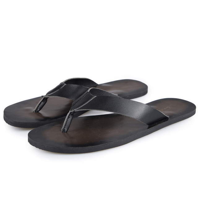 1f5acf156d85c Summer Style Men Designer Flip Flops Genuine leather Leather Sandals Good  Quality Daily Life Wear Men Footwear Sandals D53