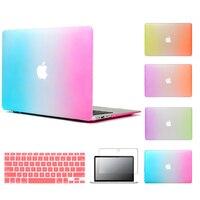 ZUANDUN Rainbow Matte Case For Apple Macbook Air Pro Retina 11 12 13 15 Inch Protector