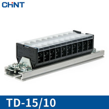 CHNT Connection Row Terminal Plate Guide Type Wire Connector 15A 10 Position TD-1510 Solder Seal Heat Shrink Butt