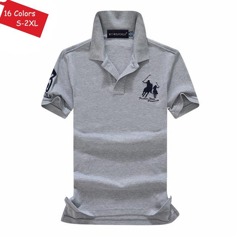 Image 3 - Good quality 2019 Summer brand Mens short sleeve horse polos  shirts casual mens cotton lapel polos shirts fashion mens slim  topsPolo