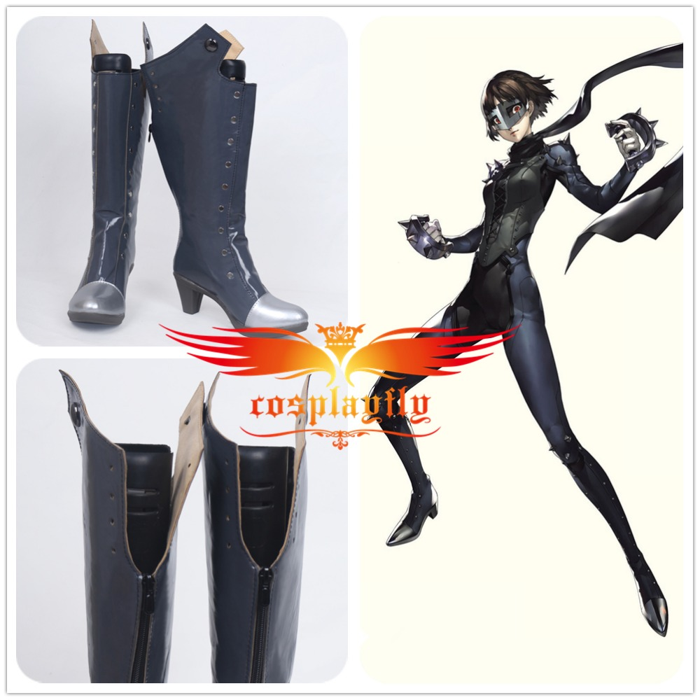 Persona 5 P5 Queen Makoto Niijima Cosplay Shoes Boots For Charming Costume For Adult Costume Halloween Christmas