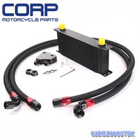 GPLUS 16 Row Engine Oil Cooler Kit + Male Sandwich Plate adapter For LS1 LS2 LS3