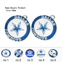 Фотография 12PCS Stainless Steel Silver Dallas Cowboys Dangle Charm Sport Dangle Jewelry DIY Accessories For Bracelet & Necklace Jewelry