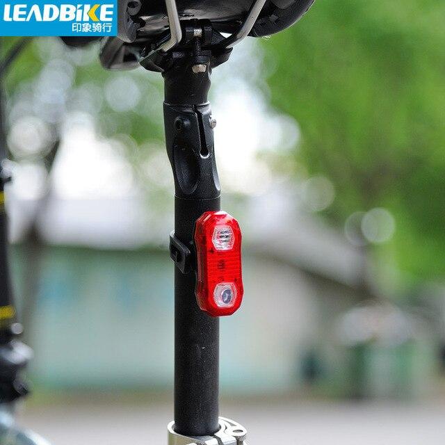 Leadbike 5 לד אופניים זנב אחורי אור אופני קסדה אדום פלאש אורות 2 מצבי רכיבה על אופניים לייזר אחורי אור מנורת אזהרת בטיחות