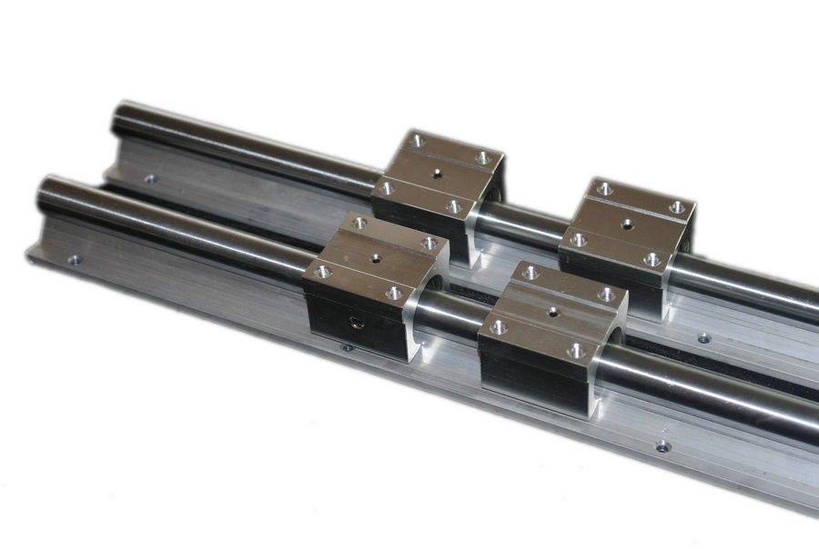 2pcs SBR20 -L1200mm Linear rail + 4pcs SBR20UU Bearing Block2pcs SBR20 -L1200mm Linear rail + 4pcs SBR20UU Bearing Block