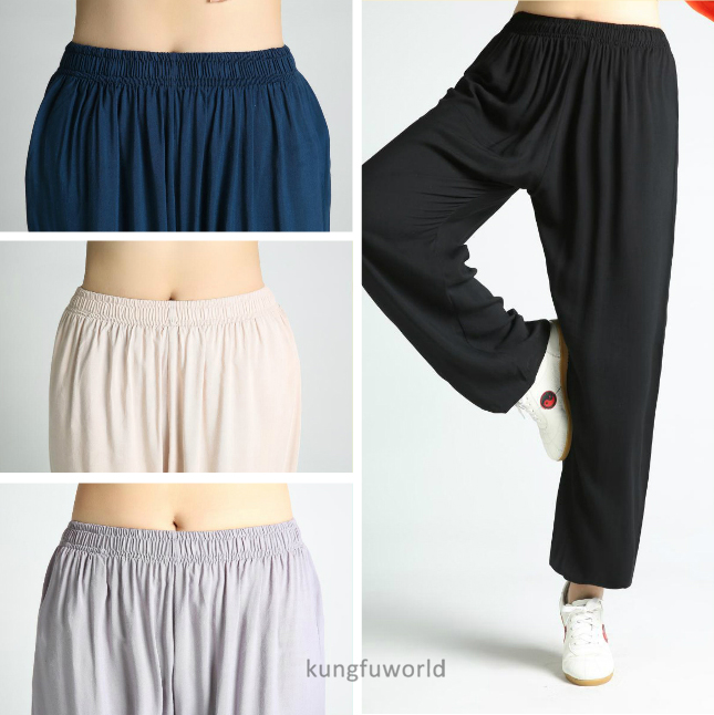 4 farben Weiche Baumwolle Kung fu Tai chi Hosen kampfkunst Wing Chun Kleidung Wushu Hosen